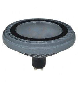 ES111 800LM 15W 230VAC 3000K 100* SILVER DIMMABLE