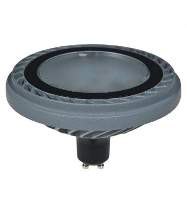 ES111 800LM 15W 3000K 100* SILVER DIMMABLE